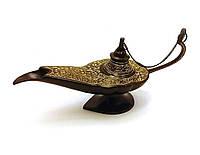 """Лампа Алладина бронзовая черная (22х11х7 см)(Chirag BD 8"""")"""