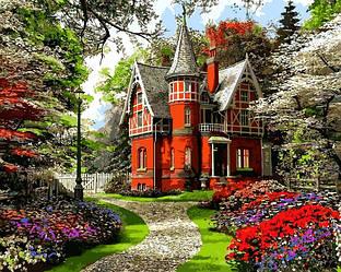 Картина по номерам Пейзаж Викторианский дом 40х50см Babylon Turbo