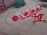 """Грабли """"Володар"""" нового образца на квадратной трубе (4 солнышка, спица оцинкованная), фото 2"""