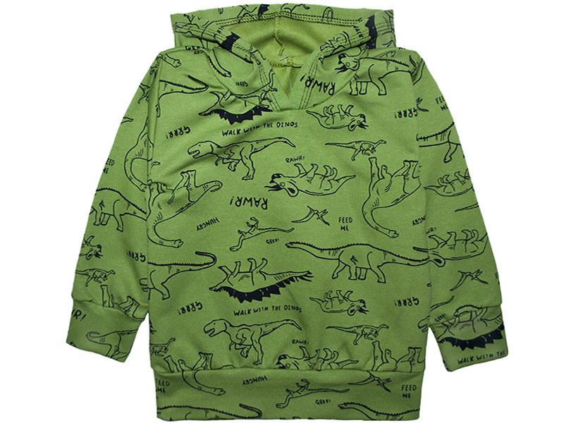 Джемпер для мальчика без начеса Динозавры