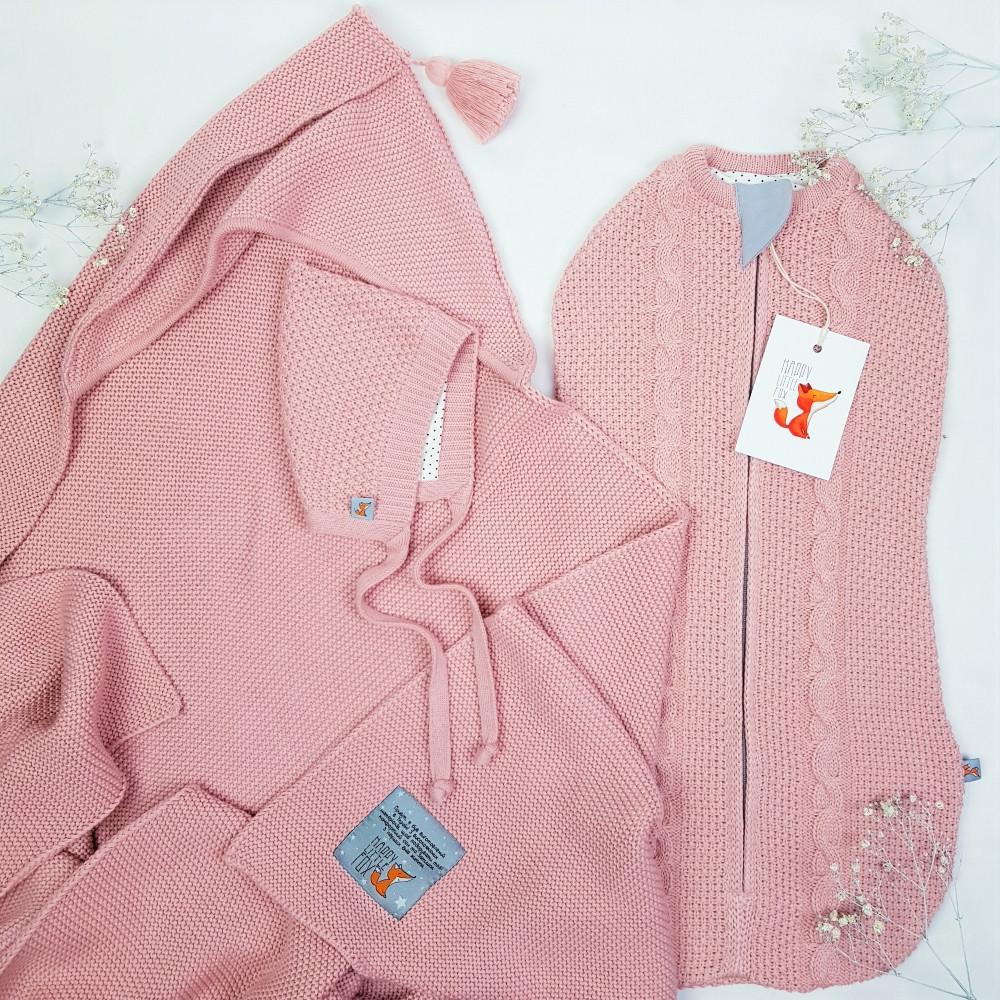 Набір для новонародженого Optimal HappyLittleFox Рожева Пудра +