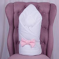 """Зимний конверт на выписку """"Classic Girl"""" одеяло для новорожденной девочки. Белый"""