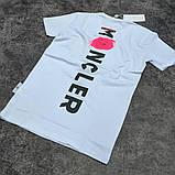 Мужская футболка Moncler CK1599 белая, фото 4