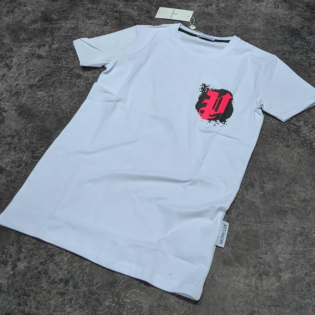 Мужская футболка Moncler CK1599 белая