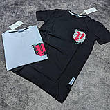 Мужская футболка Moncler CK1599 белая, фото 2