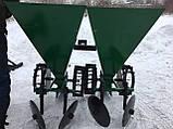 Картофелесажалка мототракторная двухрядная цепная Шип 120 л (одноточ. сцеп.), фото 3