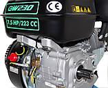 Двигатель бензиновый GrunWelt 230F-Т25 NEW Евро 5 (7,5 л.с., шлицы 25 мм), фото 8