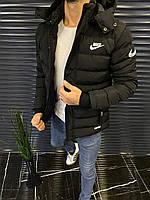 Куртка зимняя мужская с капюшоном. Теплый пуховик, спортивная куртка Nike