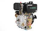 Двигатель дизельный GrunWelt GW178F (вал под шлицы, ручной старт), фото 6