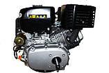 Двигатель бензиновый GrunWelt GW460FE-S (CL) (центробежное сцепление, шпонка 25 мм, эл/старт), фото 7