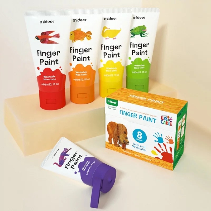 Набор пальчиковых красок 8 цветов Mideer