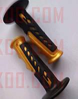 Ручки руля велосипедные (черные с оранжевым) YKX