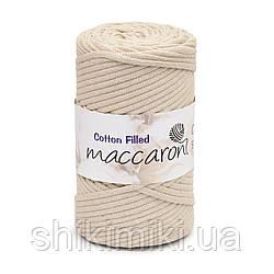 Трикотажный хлопковый шнур Cotton Filled 5 мм, цвет Латте