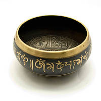 "Чаша поющая ""Будда"" (без резонатора)(15,5х15,5х7 см)(Singing Bowl Black Buddha no.4)"