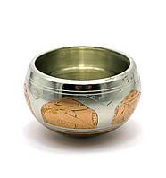 Чаша поющая (без резонатора)(d-10 см)(Singing Bowl Silver Copper no.1)