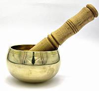 Чаша поющая бронзовая (без резонатора)(d 10 см)(Yellow Plain no.1)