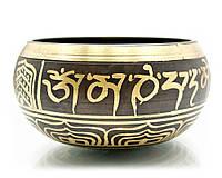 Чаша поющая с рисунком (d-13,5,h-7 см)(Singing Bowl Carving no.3)
