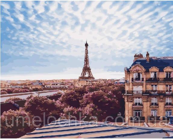 Рисование по номерам Небо Парижа (BRM22081) 40 х 50 см (Без коробки)