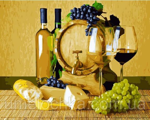 Картина за номерами BrushMe Сир і біле вино (BRM22603) 40 х 50 см