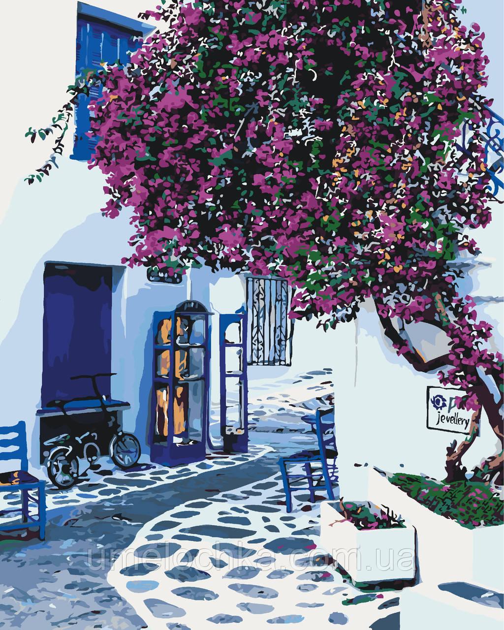 Картина за номерами Сонячна Греція (KH2168) 40 х 50 см Ідейка