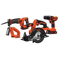 Набор инструментов Black + Dekker 4 Tool combo kit(дрель +циркулярная пила +сабельная пила +фонарь)