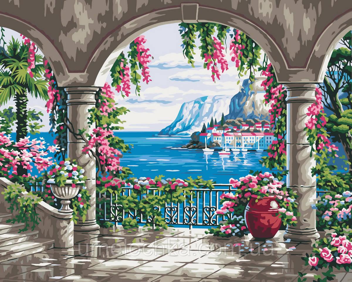 Картина за номерами Райське місце (KHO2235) 40 х 50 см Ідейка (Без коробки)