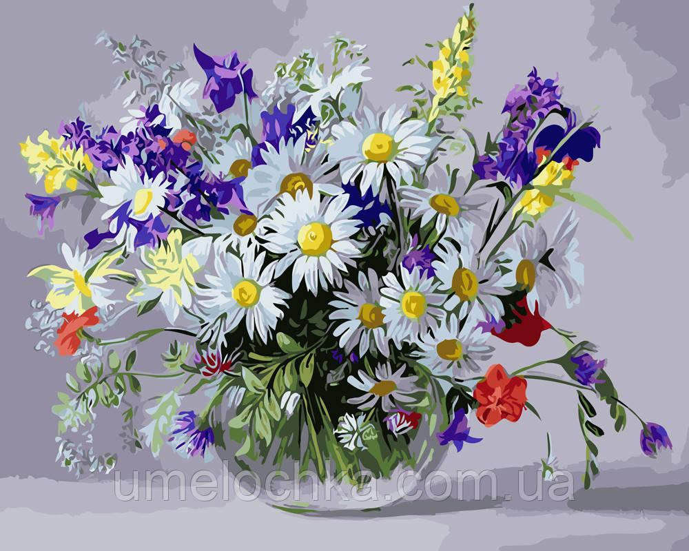 Картина по номерам Вазочка полевых цветов (BRM9890) 40 х 50 см