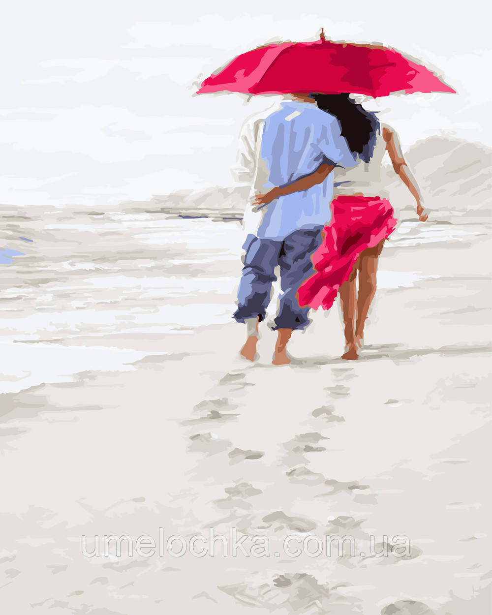 Картина по номерам Прогулка по белому песку (BK-GX23590) 40 х 50 см (Без коробки)