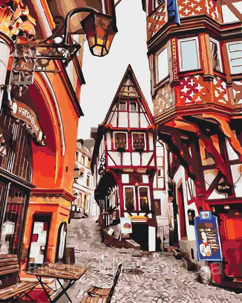 Рисование по номерам Баварская улочка (KHO3539) 40 х 50 см Идейка [Без коробки]