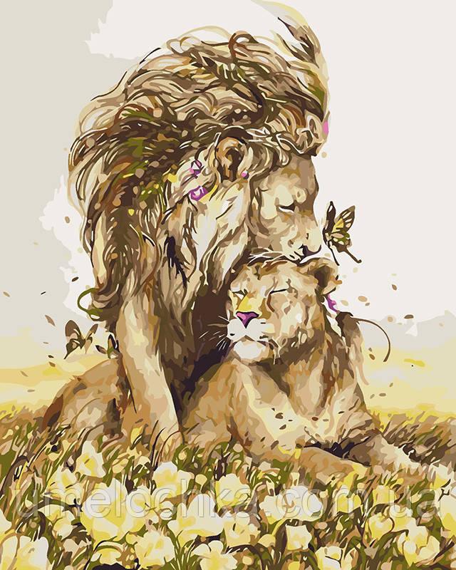 Картина за номерами Романтичні почуття (KH4100) 40 х 50 см Ідейка