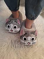 Домашние плюшевые тапочки Кот Чи для кигуруми / тапки кигуруми для дома катята котик