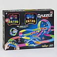 Светящийся трек, трасса 2 машинки на пульте управления Dazzle Tracks, 326 деталей, фото 2