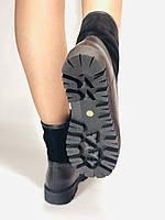 Натуральне хутро. Люкс якість. Жіночі зимові черевики. На низькій підошві. Натуральна замша. Polann Р. 36-40., фото 4