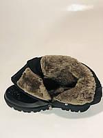 Натуральне хутро. Люкс якість. Жіночі зимові черевики. На низькій підошві. Натуральна замша. Polann Р. 36-40., фото 9