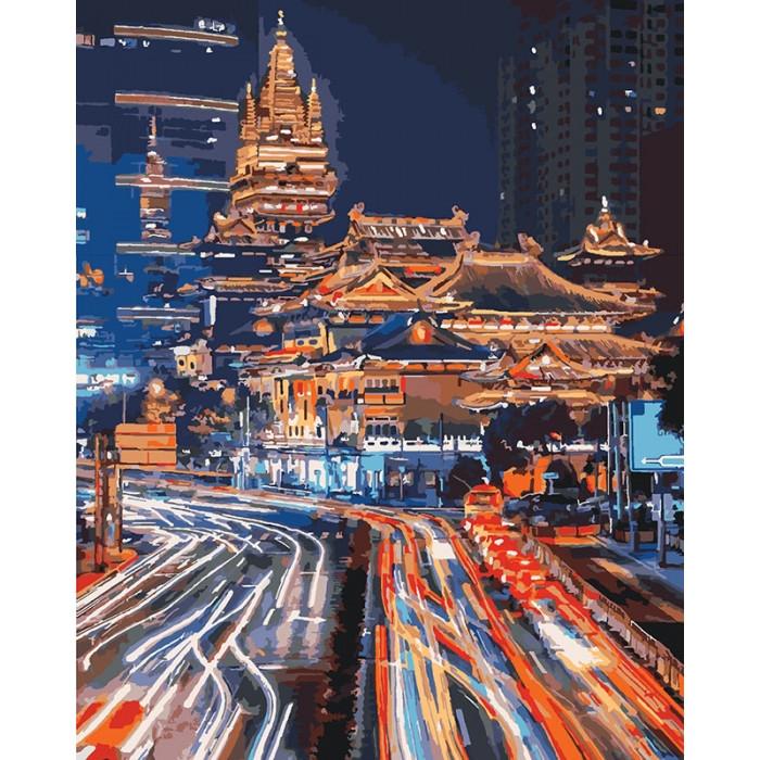 Картина по номерам Ночной Шанхай ТМ Идейка 40 х 50 см КНО3543