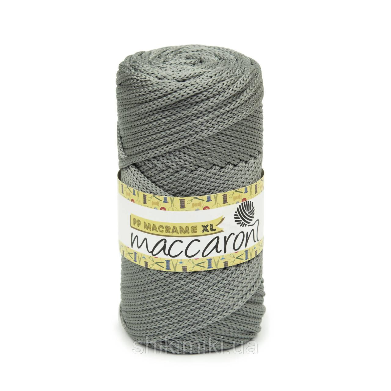 Трикотажный полипропиленовый шнур PP Macrame XL 4 mm, цвет Серый