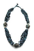 Ожерелье из биссера и металла  (35 см)