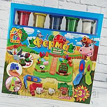 Комплект креативного творчості Тісто для ліплення Ферма. 5 кольорів