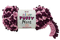Пряжа Alize Puffy More 6278 розовый слива