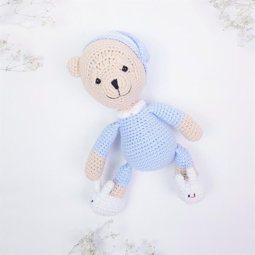 Медвежонок Сплюшка игрушка мягкая Голубой (400005)
