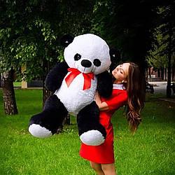 Плюшевые медведи: Плюшевый медвежонок Панда 1.2 метра ( 120 см), Черно-белая