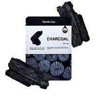 Тканевая маска с древесным углём для проблемной кожи Farm Stay Charcoal