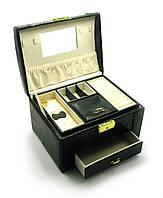 Шкатулка для бижутерии (23х16х17 см)(PU-48)