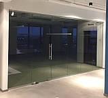 Цельностеклянная перегородка с дверью, фото 4