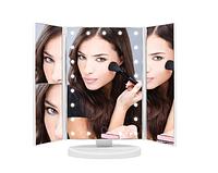Зеркало для макияжа тройное с LED подсветкой (90475)