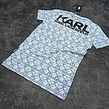 Мужская футболка Karl CK1609 белая, фото 3
