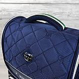 Вместительный анатомический школьный рюкзак с пеналом для мальчика 7, 8, 9, 10 лет | каркасный ранец портфель, фото 8