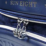 Вместительный анатомический школьный рюкзак с пеналом для мальчика 7, 8, 9, 10 лет | каркасный ранец портфель, фото 9