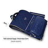 Вместительный анатомический школьный рюкзак с пеналом для мальчика 7, 8, 9, 10 лет | каркасный ранец портфель, фото 10