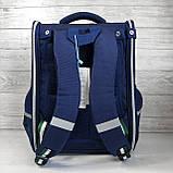 Вместительный анатомический школьный рюкзак с пеналом для мальчика 7, 8, 9, 10 лет | каркасный ранец портфель, фото 5